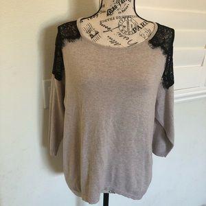 LC Lauren Conrad Laced Sweater
